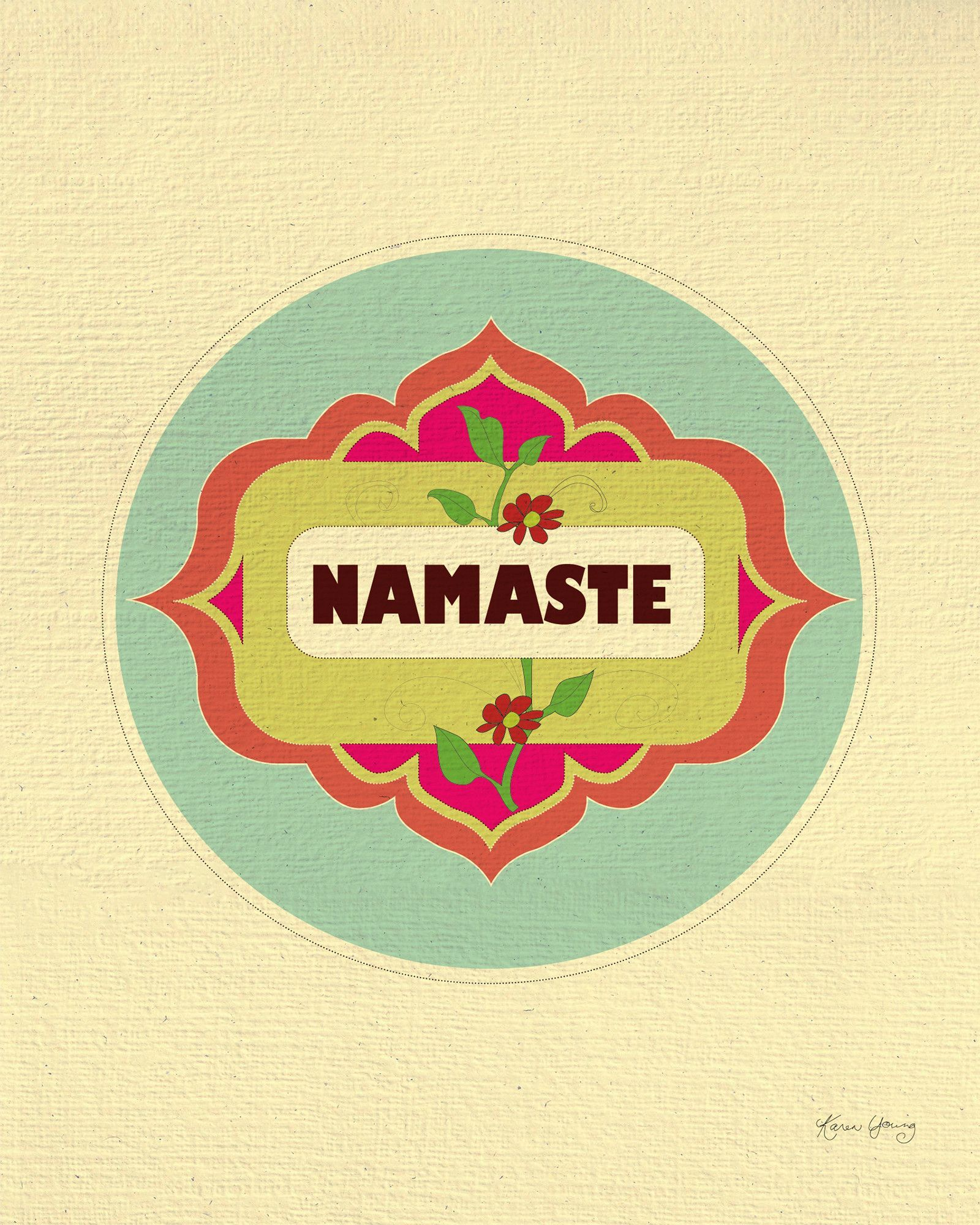 This Namaste wall art available in an array of finishes, materials ...