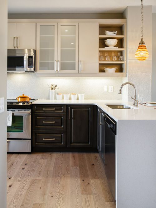 Two Toned Kitchen Cabinets Provide An Interesting And Exciting Variety To A  .... A Look I Really Love Is To Paint The Top Cabinets A Light Color, ...