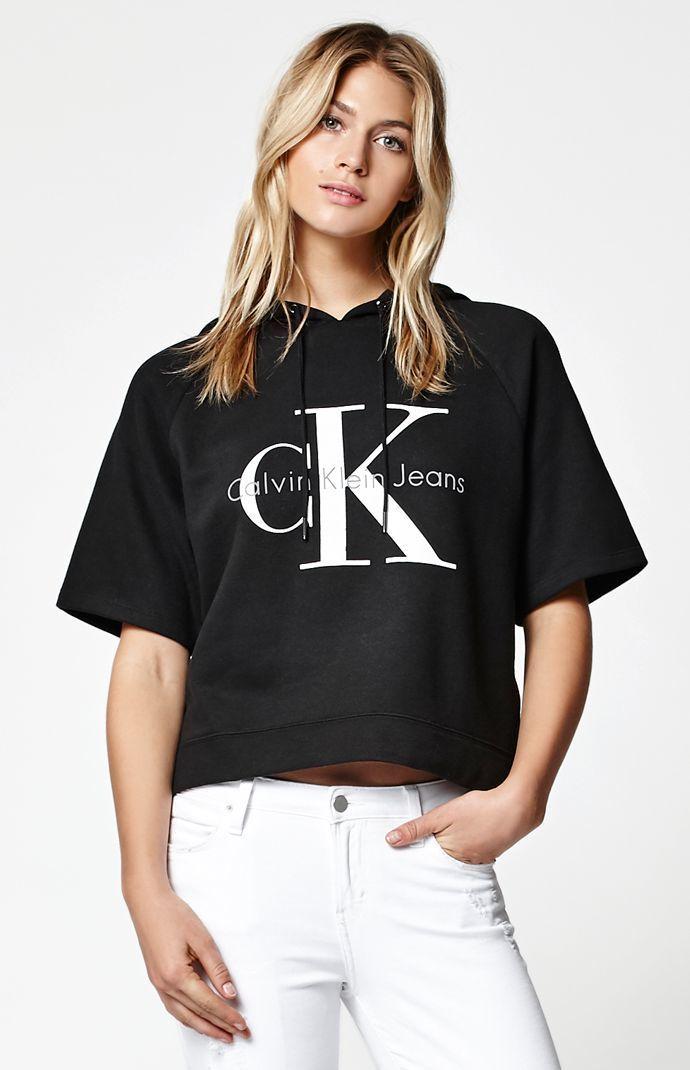 Calvin Klein For PacSun Reissue Logo Short Sleeve Hoodie at PacSun.com