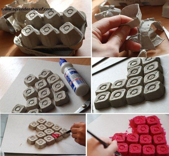 Paso a paso reciclado hazlo tu mismo valentine - Decoraciones san valentin ...
