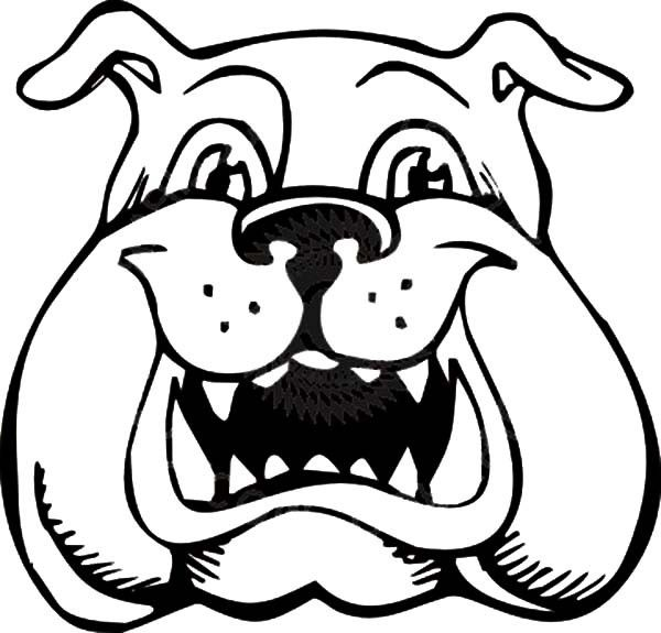 Bulldog Is Laughing Coloring Pages | Best Place To Color