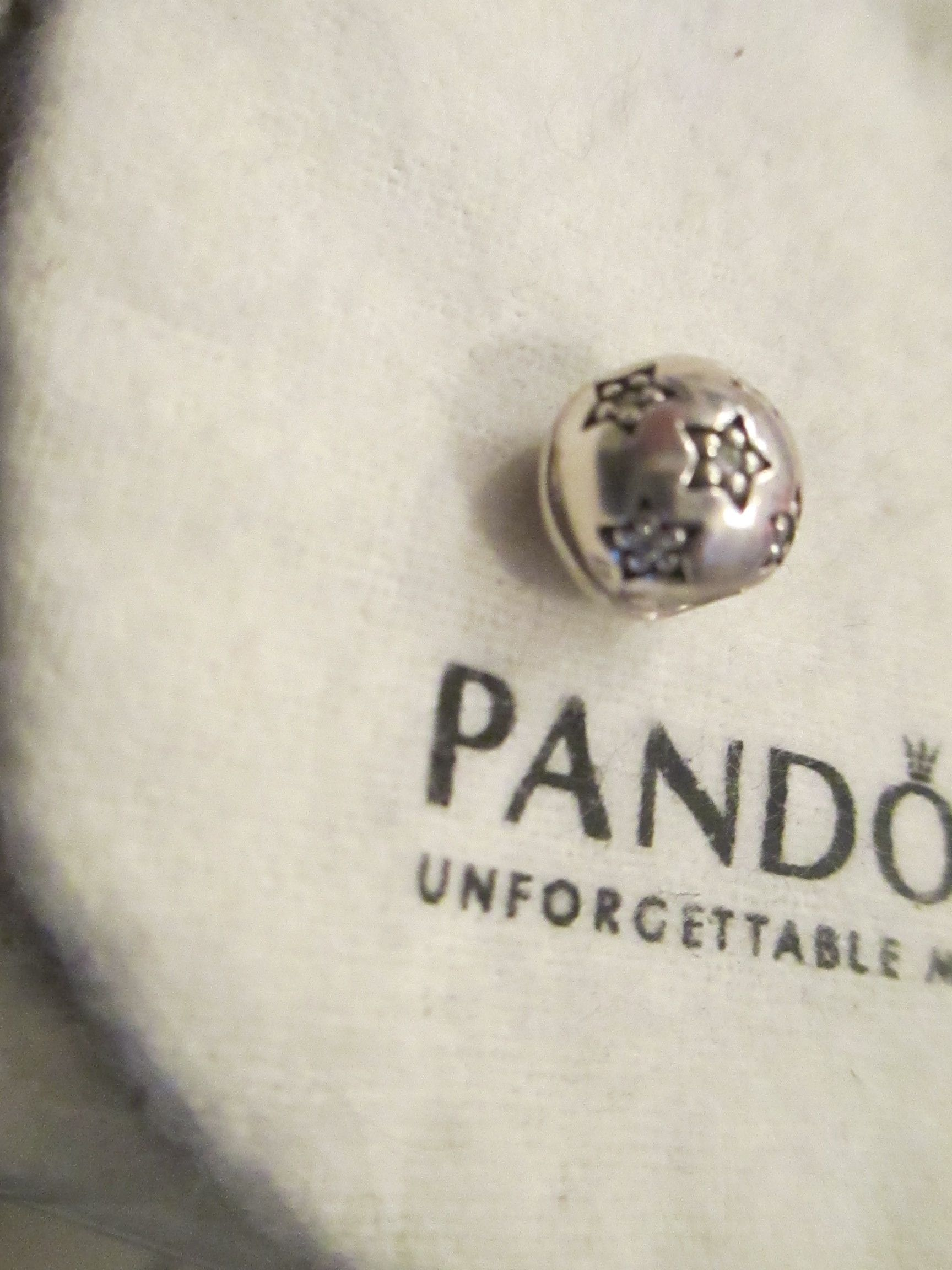 3e292ba44 AUTHENTIC PANDORA SILVER CHARM BEAD TWINKLE TWINKLE STAR CLIP STOPPER  791058CZ. Get the lowest price