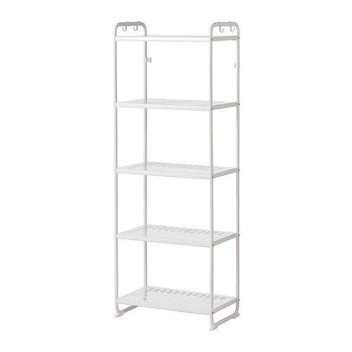 Details About Mulig Shelving Unit White Ikea Shelving