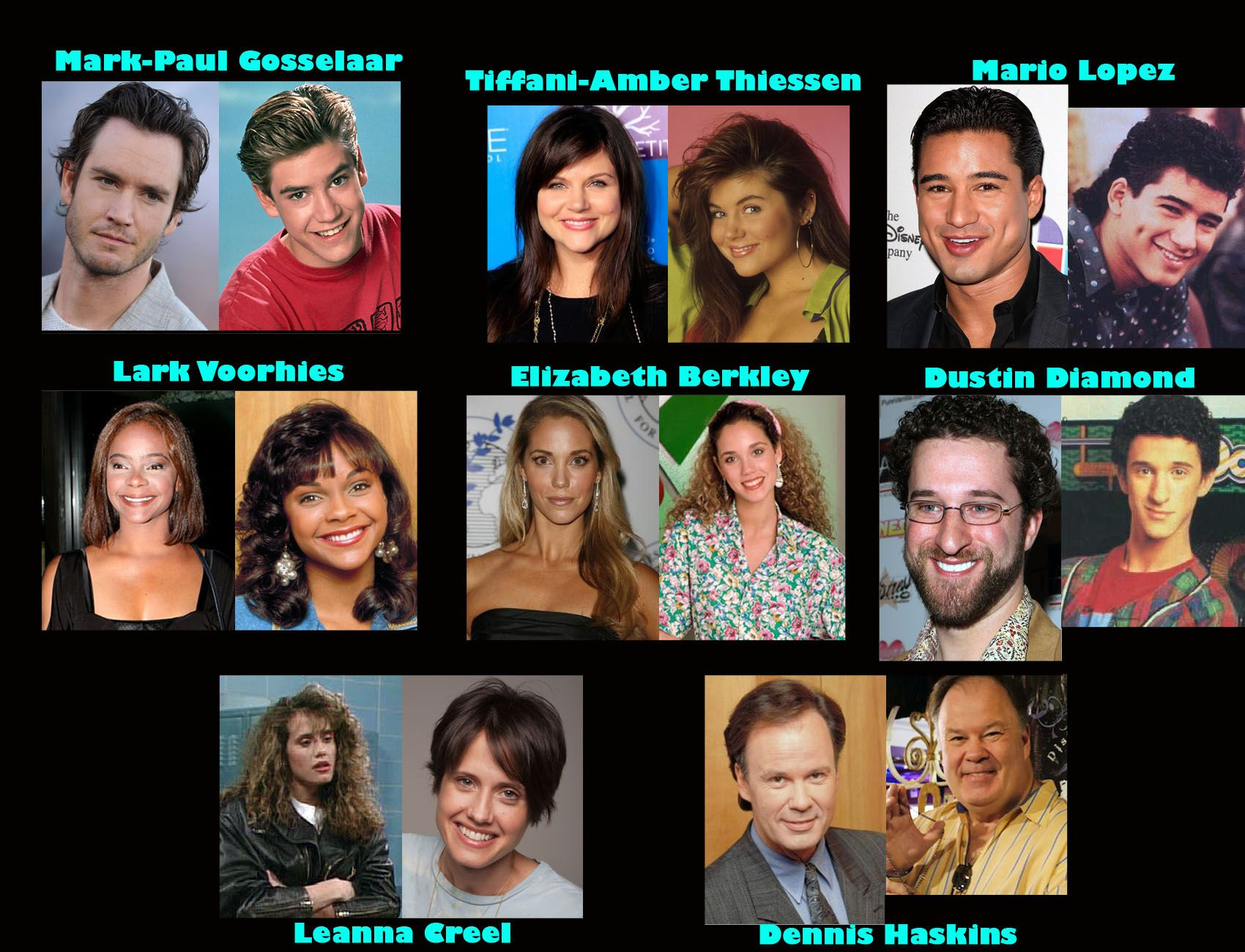 SAVED BY THE BELL CAST THEN AND NOW   love