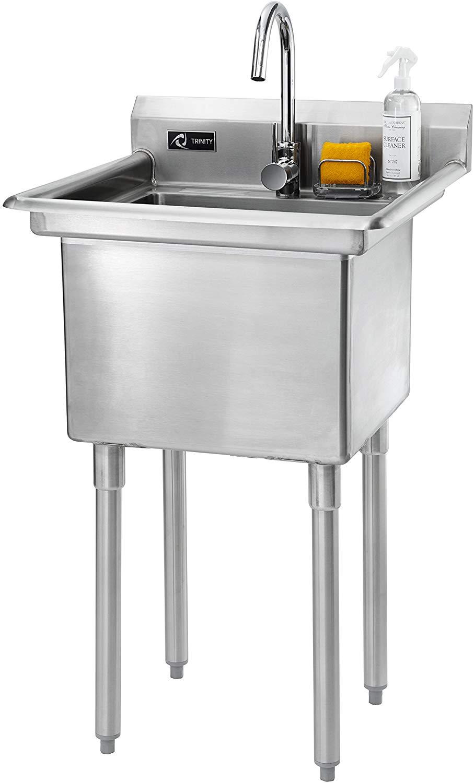 Trinity Stainless Steel Utility Sink Amazon Co Uk Kitchen Home Stainless Steel Utility Sink Utility Sink Sink
