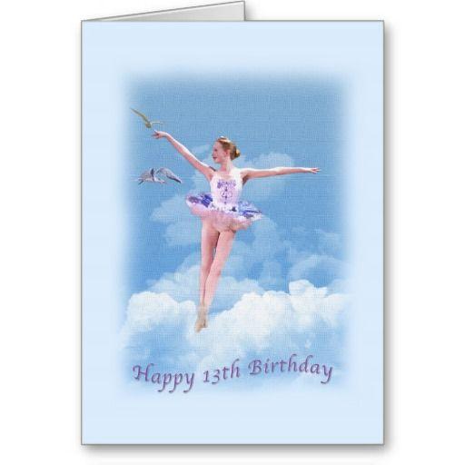 Birthday, 13th, Dancing Ballerina Cards