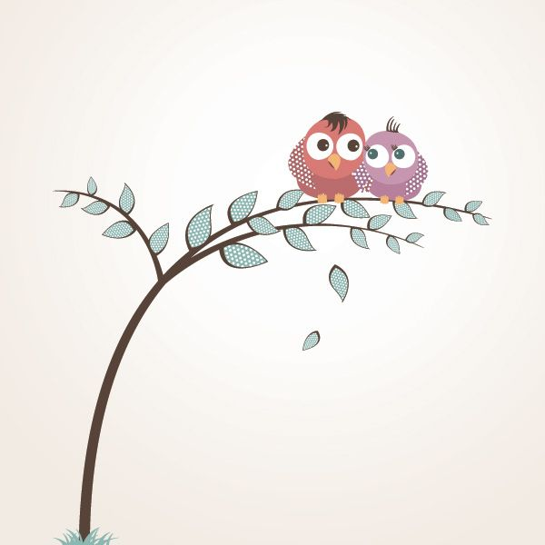 """""""Lovely Birds """", vector graphic by DryIcons.com - available with Free, Commercial and Extended License."""