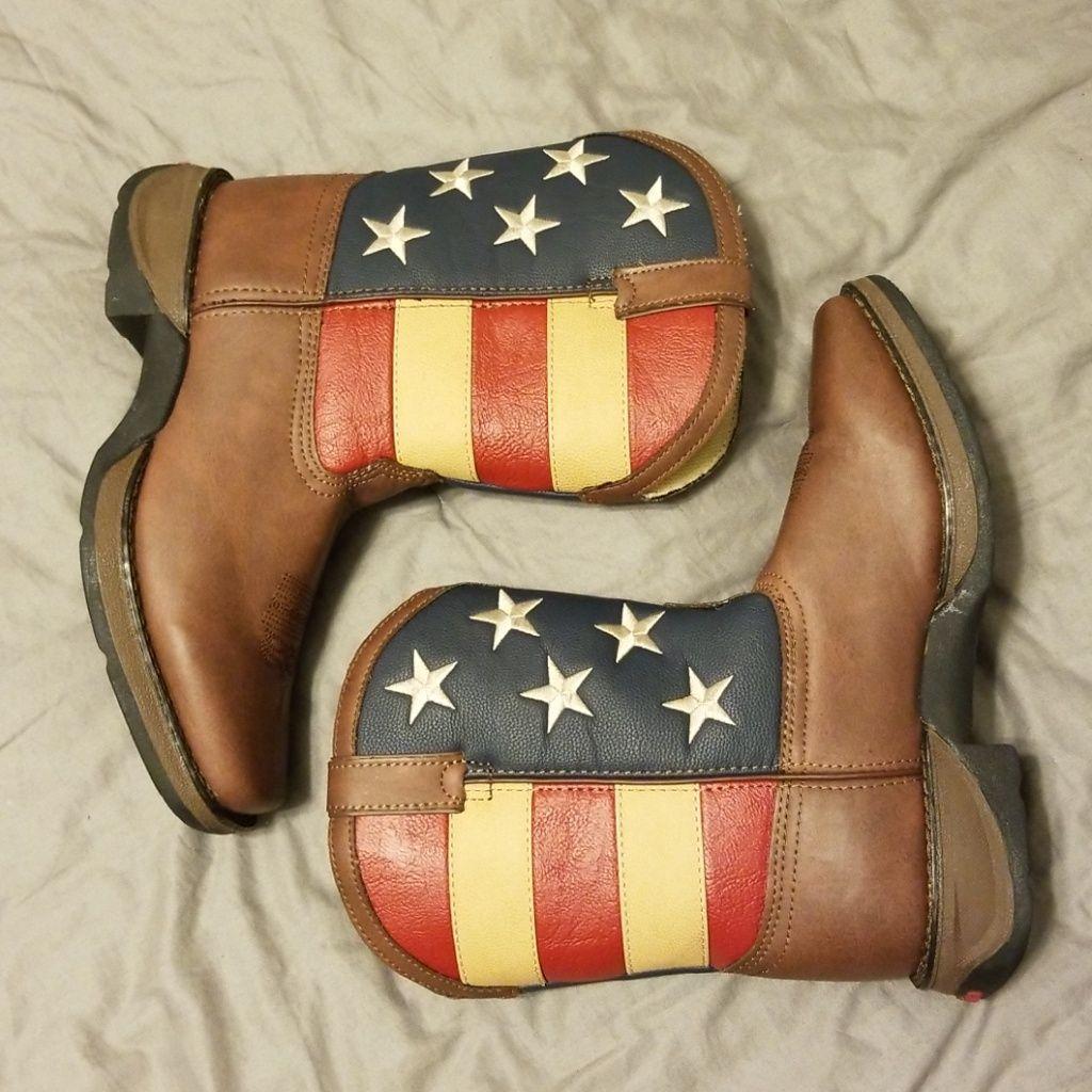 LIL/' DURANGO® Kid/'s Patriotic Western Flag Boot