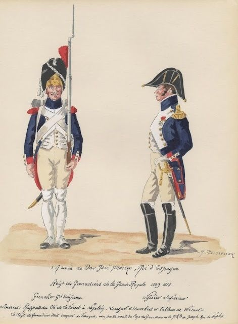 Regimiento de Granaderos de la Guardia de Jose Bonaparte. España 1809-13