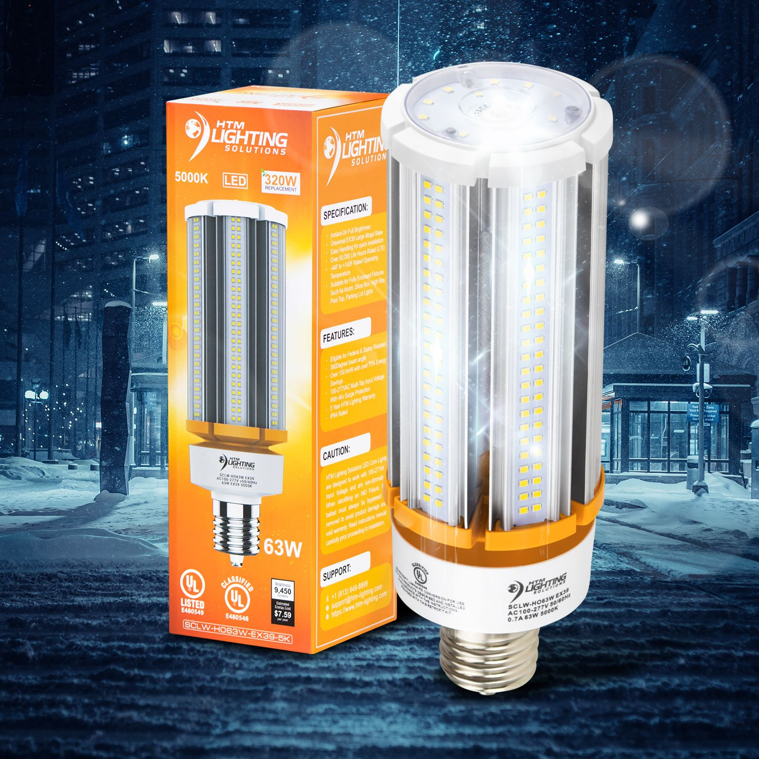 Save Over 75 Instantly 63w Led Corn Light Replaces Up To 320w To 400w Mh Bulbs Insanely Bright Stunning Lumen Ou Security Lights Led Light Architecture