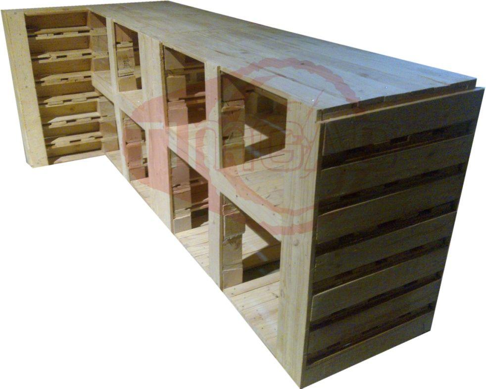 diseo muebles con palets de madera