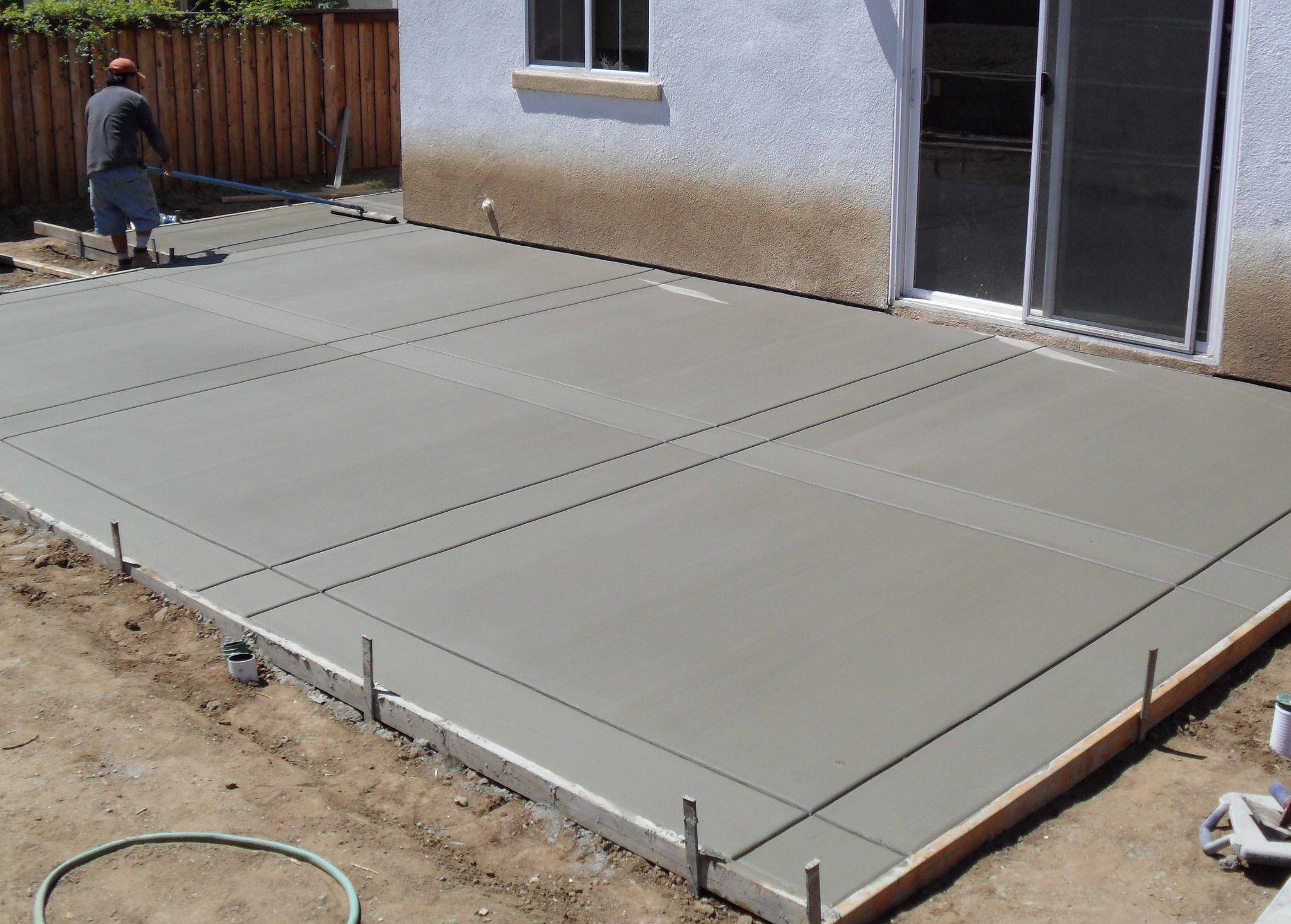 Concrete Patio in 2020   Poured concrete patio, Concrete ... on Poured Concrete Patio Ideas id=11195