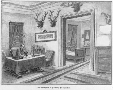Rudolf In His Room In The Mayerling Lodge Lothringen Franz Josef I
