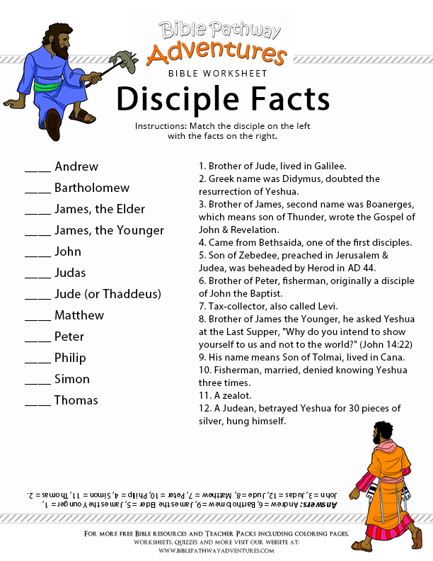 Disciple Facts Bible Lessons For Kids Bible Study Lessons Bible Lessons