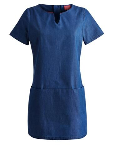 Joules Womens Chambray Short Sleeve Tunic, Chambray.                     A summertime essential, this versatile and flattering chambray tunic is made with warmer weather in mind and yet thanks to a pair of leggings or tights doesn't have to stay at the back of your wardrobe when it gets a little chillier.