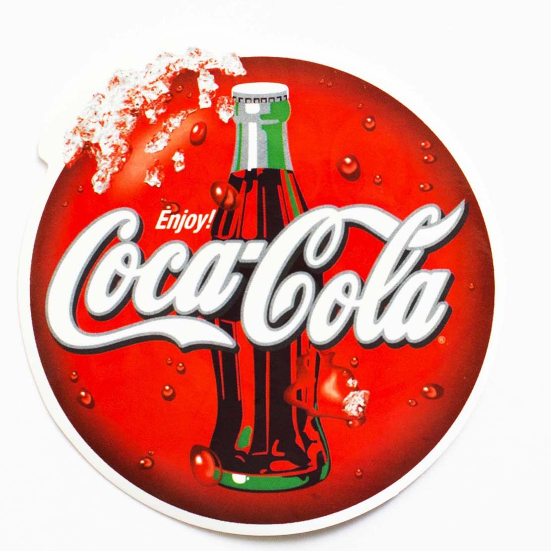 COCA COLA POP COLA DECAL SODA HAND STICKER 10 INCH