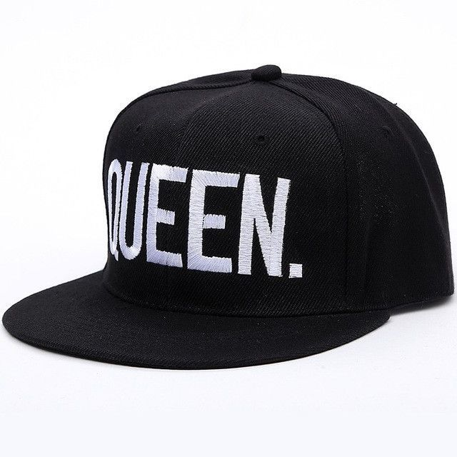 f6221258ce9 KING   QUEEN embroidered letter youth Lovers Men   women Baseball hat black  color