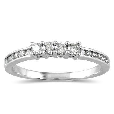 1 3 Carat Diamond Wedding Band In 10k White Gold Diamond Wedding Bands Cubic Zirconia Wedding Bands White Gold Diamond Rings