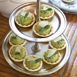 Lima Bean–Puree Tartlets