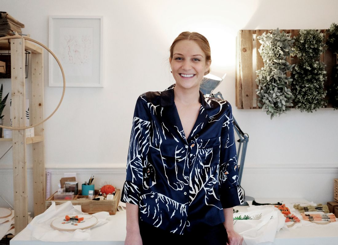 Meet Joanna, founder of Sew & Saunders, and discover her collaboration with DMC