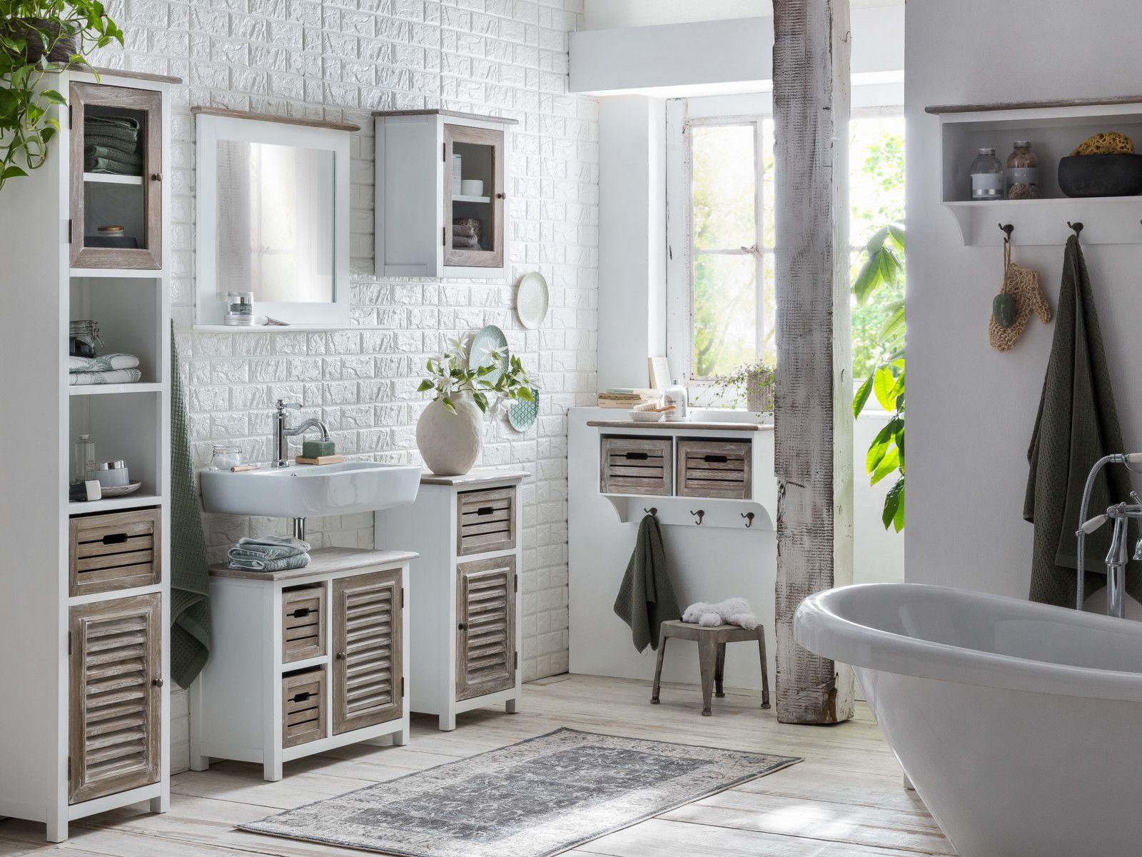 Badmobel Set Kansas Kleine Badezimmer Badezimmer Inspiration Landhausstil