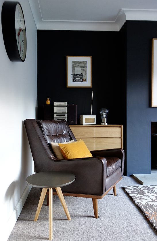Black Feature Wall Living Room creating a black feature wall with crown night fever - tidy away