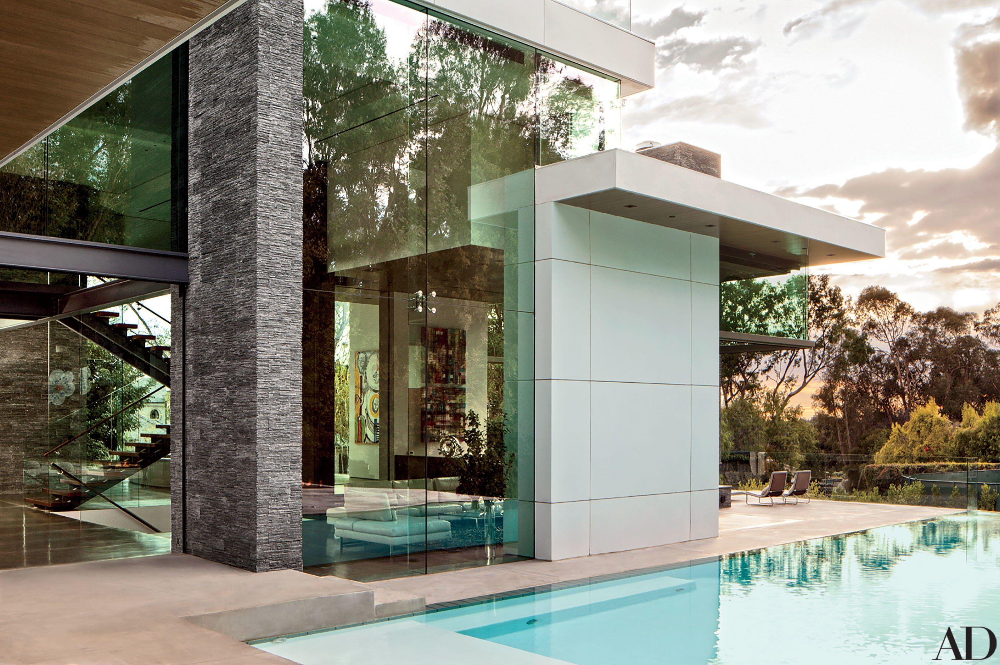 Sports Broker Stephen Dubins Contemporary Beverly Hills Home Photos -