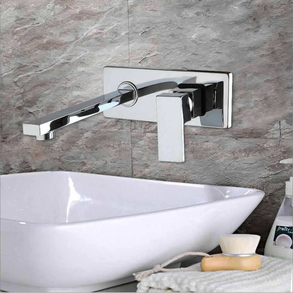 Wall Mounted Bathroom Tap Bathtub Waterfall Faucet Chrome YS-8829B ...