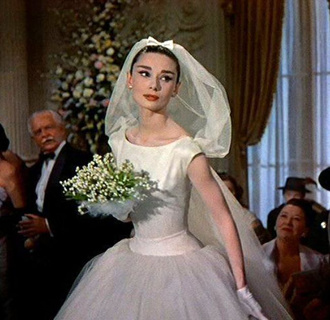 Wedding Dress From Funny Face Audrey Hepburn In A Wedding Gown