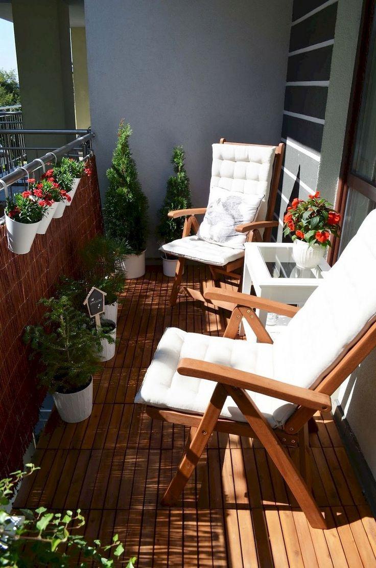 50+ Comfortable Small Balcony Makeover Ideas #smallbalconyfurniture