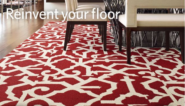 white and red area rug - Google Search | Ideas for the House ...