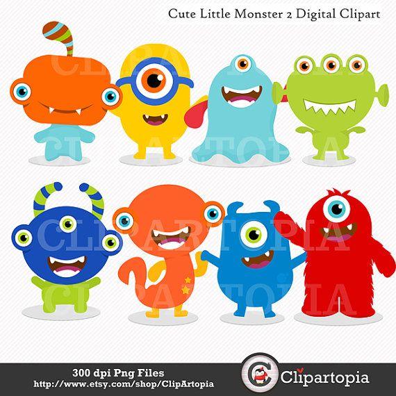 Susse Kleine Monster 2 Digitale Clipart Party Fur