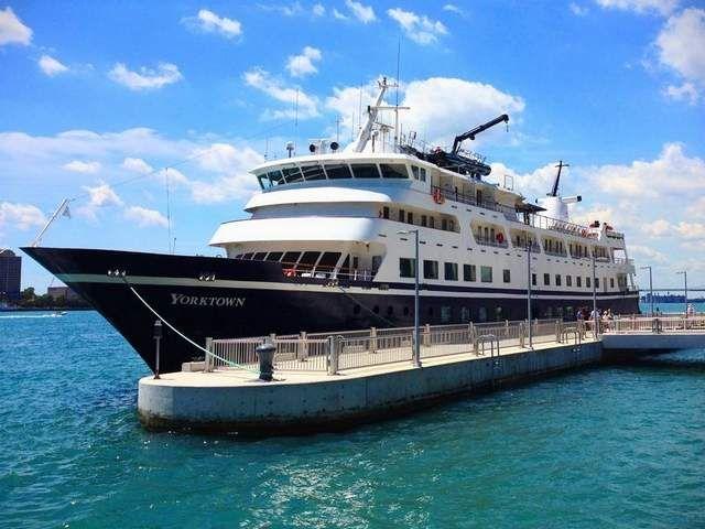 The Yorktown A Near Coast Cruising Ship Sits In The Detroit - Cruise ship yorktown