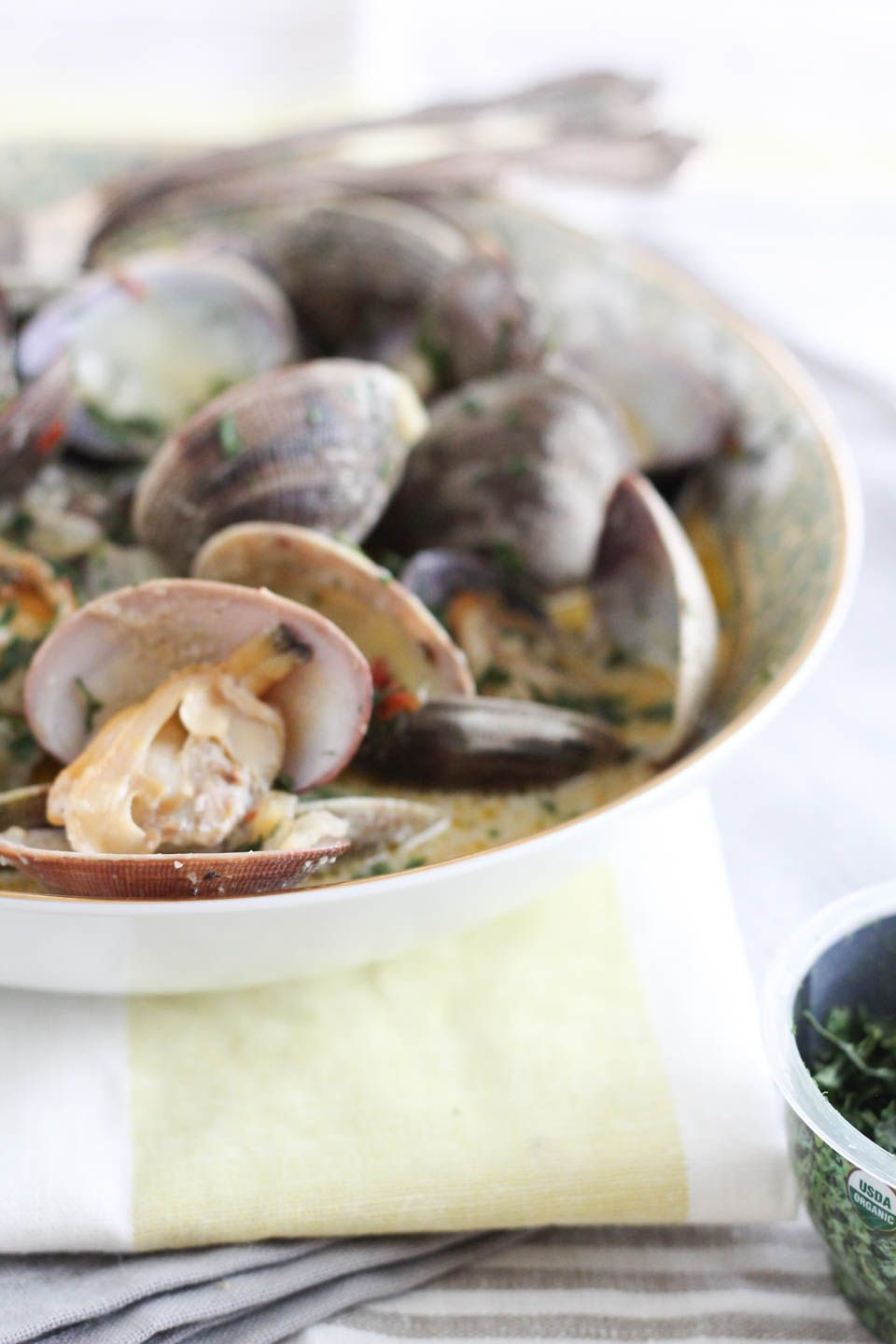 Herb coconut milk steamed clam steamed clams just bake