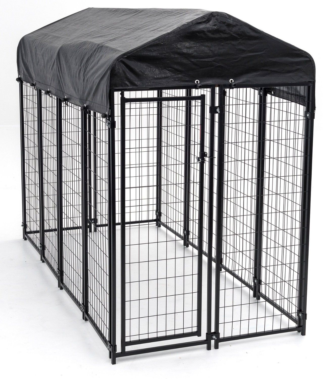 Amazon.com : Lucky Dog Uptown Welded Wire Kennel (6\'Hx4\'Wx8\'L ...