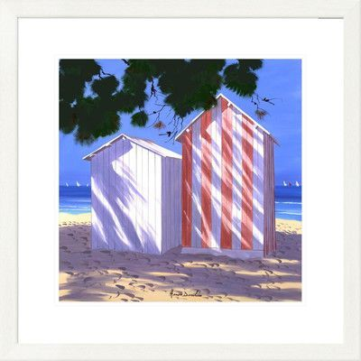 """Global Gallery 'Coastal La Cabirre Rayee' by Henri Deuil Framed Graphic Art Size: 26"""" H x 26"""" W x 1.5"""" D"""