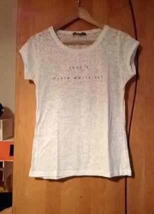 9b67910402b0bb Kaufe meinen Artikel bei  Kleiderkreisel http   www.kleiderkreisel .de damenmode t-shirts 119587674-weisses-t-shirt-mit-shrift