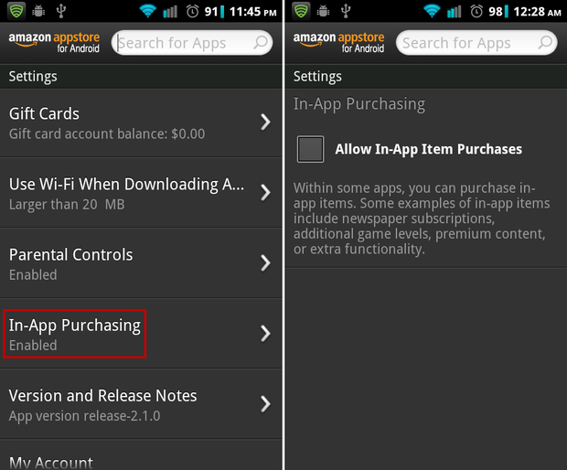 How to disable in-app purchases on Amazon app store | http://www ...