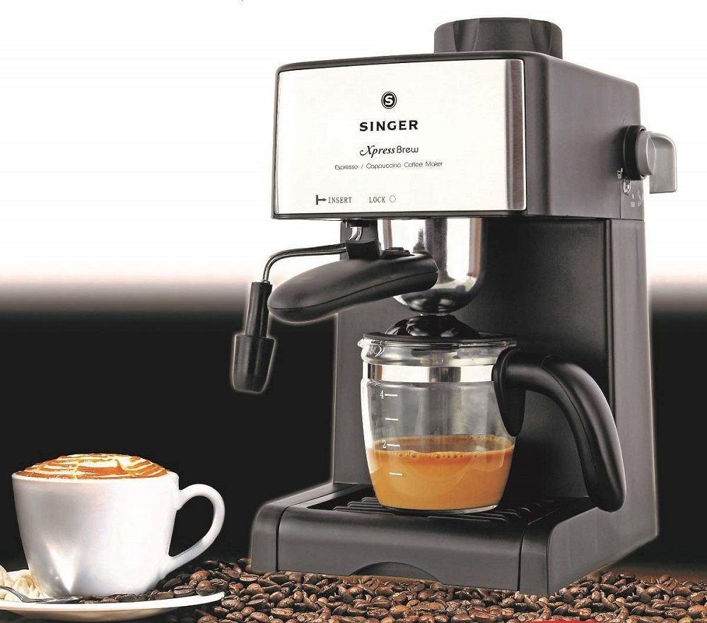 4 Cups Espresso Coffee Capacity Carafe Xpress Brew 800 Watts Coffee Maker Singer Kitchens A Coffee Maker Machine Best Coffee Maker Espresso Coffee Machine