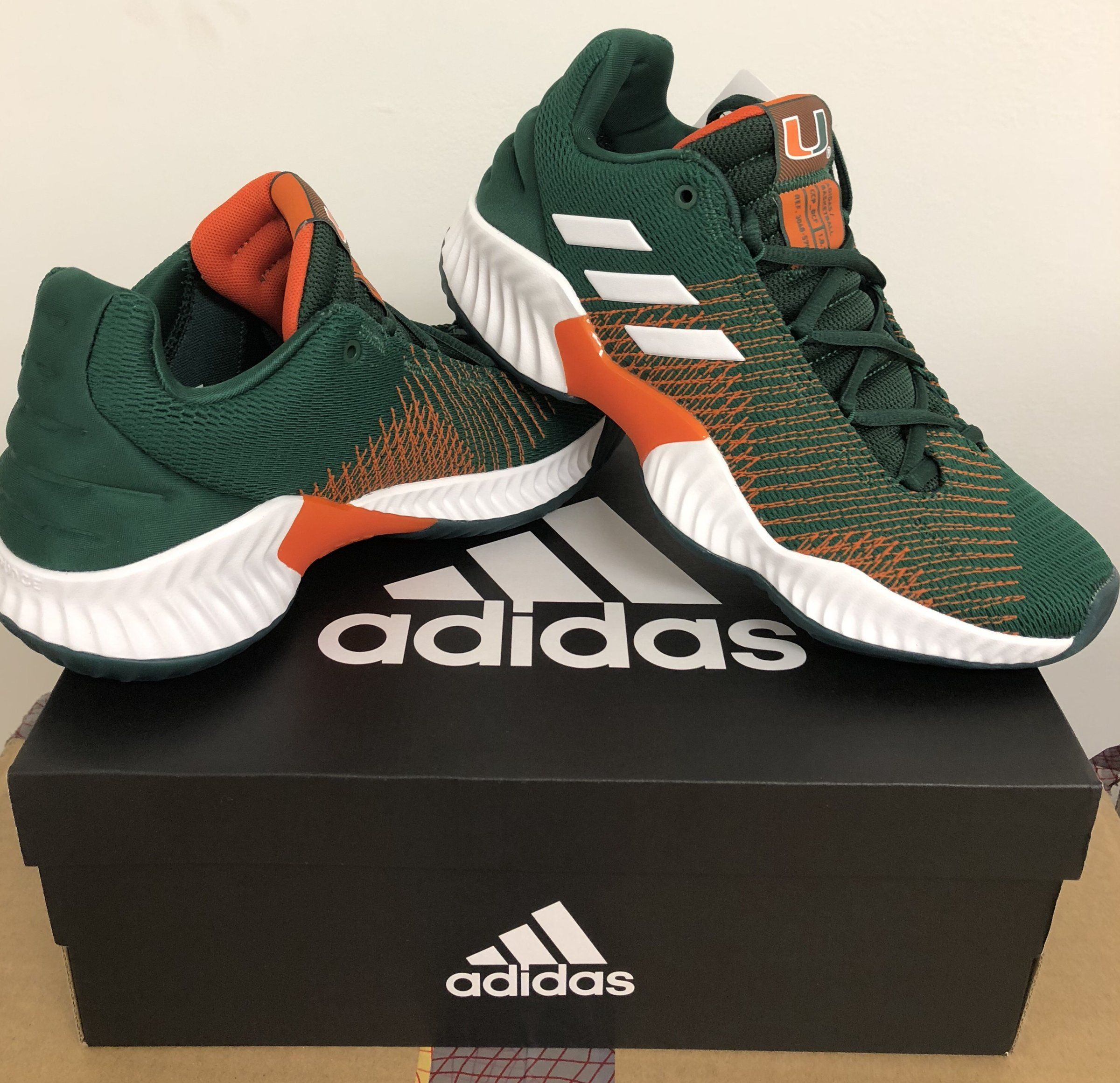 Miami Hurricanes adidas Pro Bounce Shoe