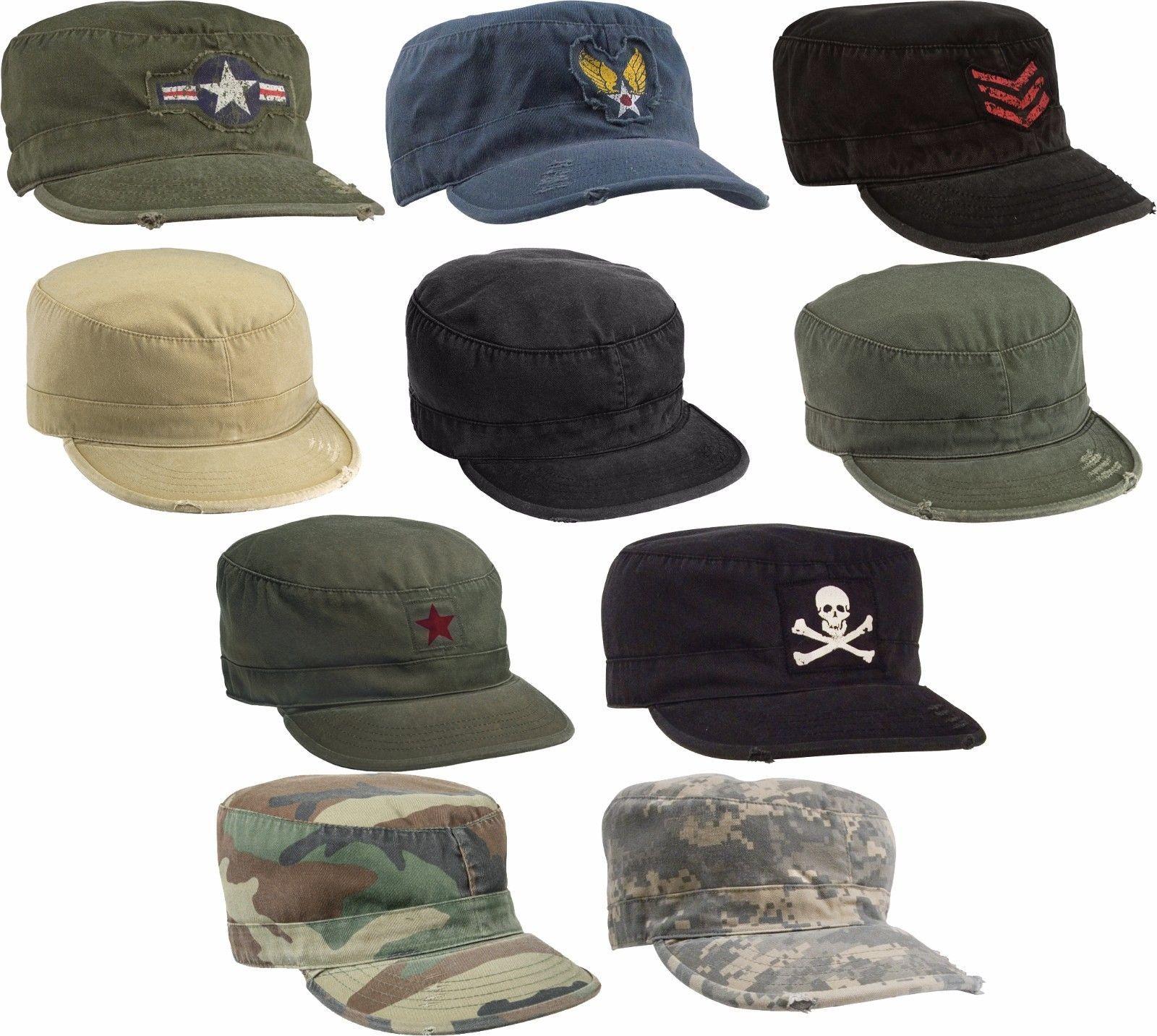Vintage Us Army Patrol Cap Military Fatigue Hat  78f933ae473