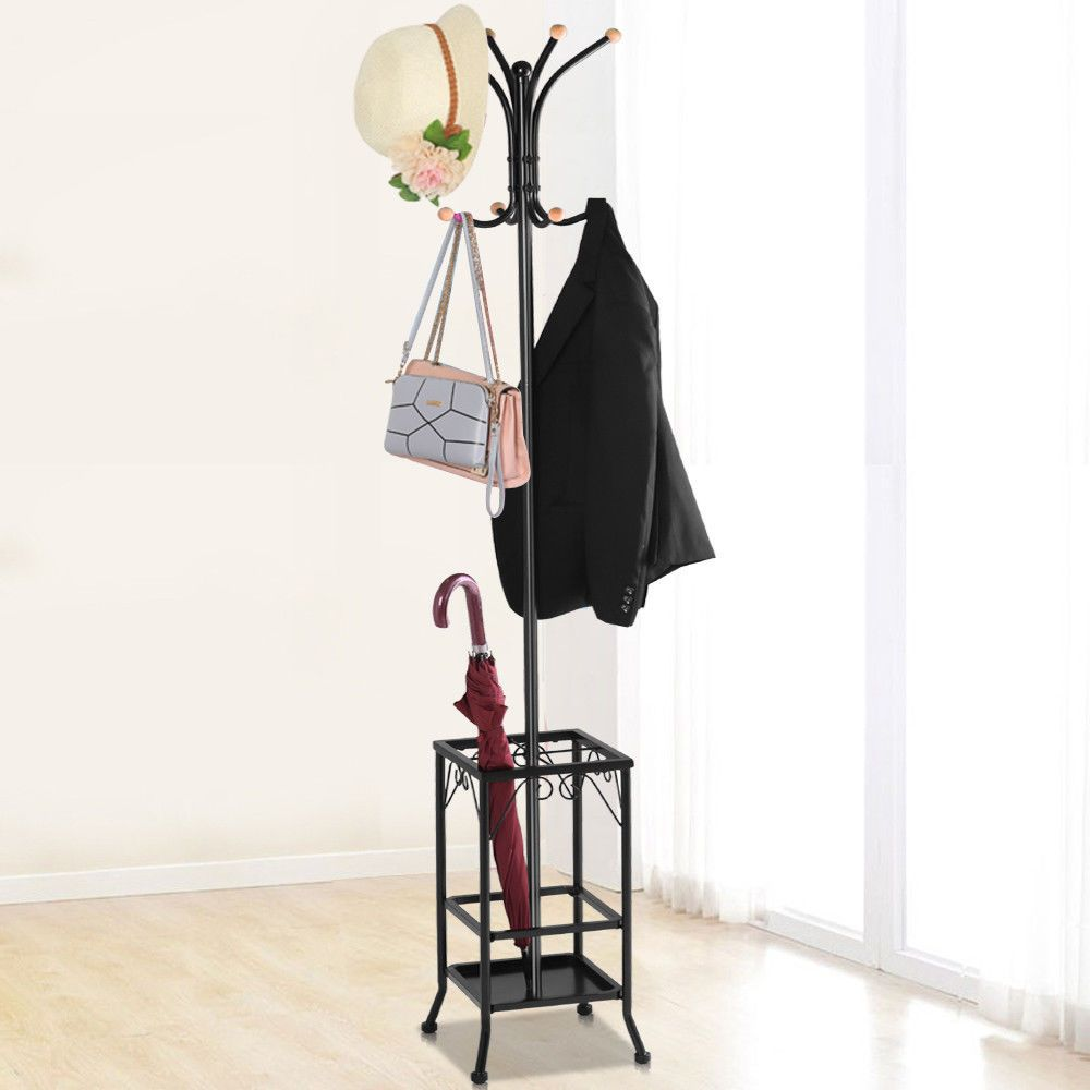 Coat Rack Umbrella Holder Hat Hooks Stand Freeshipping Shopping Deals Umbrella Stand Metal Coat Rack Coat Rack