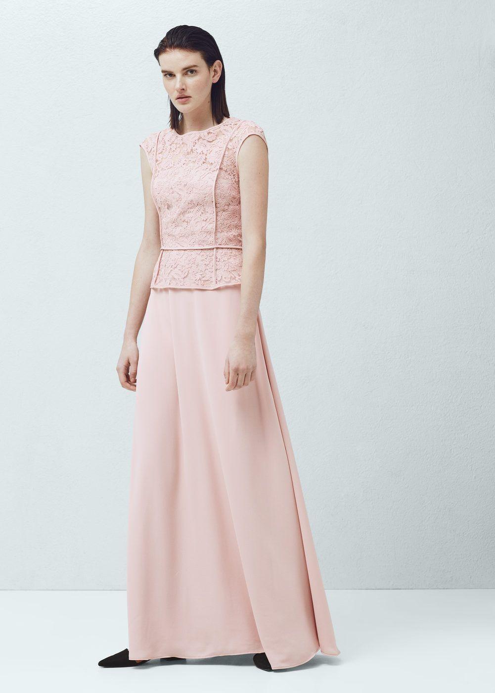 mango kleid lang rosa - stylische kleider für jeden tag