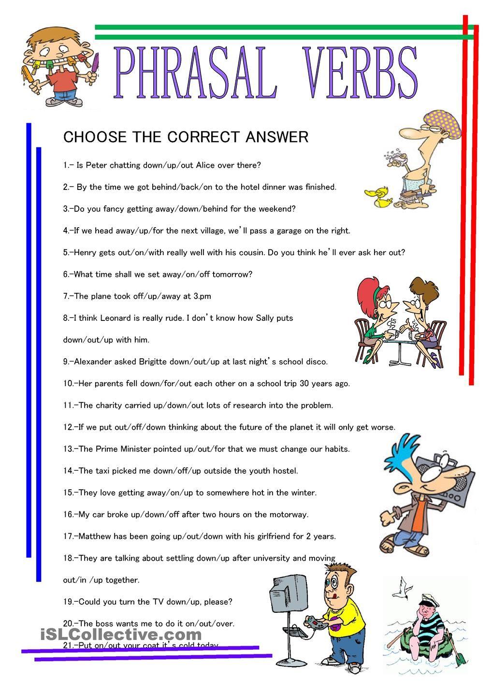 Phrasal Verbs Grammar Lessons Verb Idioms [ 1440 x 1018 Pixel ]