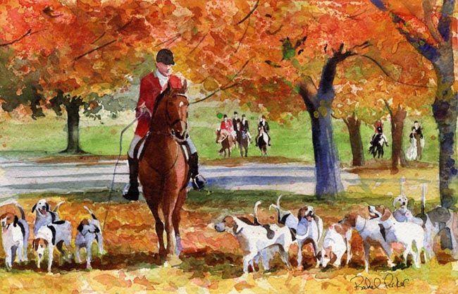 Giclee Print Painting Morgan warmblood Friesian Horse Art Thoroughbred Lovers