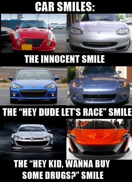 Car smiles. Car memes 04/16/15. | Awesome Car Memes | Funny car memes, Car memes, Truck memes