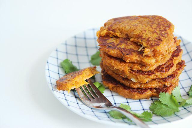Galettes de patate douce & échalote | Mango and Salt | Bloglovin'