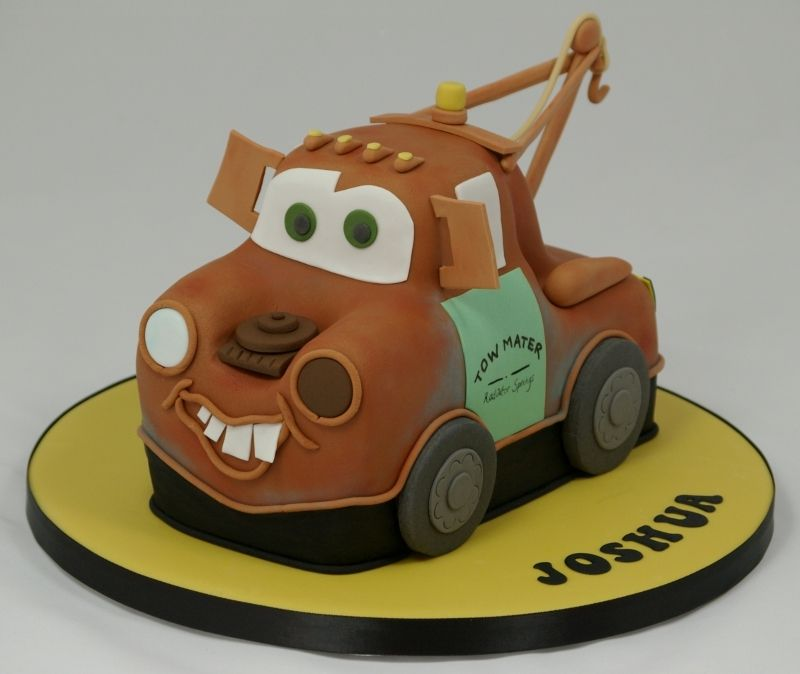 Pleasant Tow Mater Birthday Cake With Images Lightning Mcqueen Birthday Funny Birthday Cards Online Alyptdamsfinfo