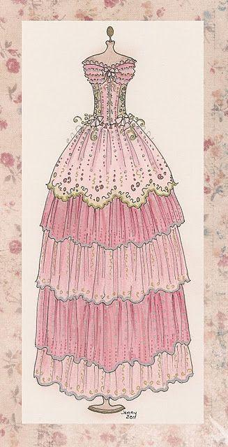 Un Vestido De Epoca Clasica Ilustracion De Moda Dibujos De Moda Disenos De Vestido