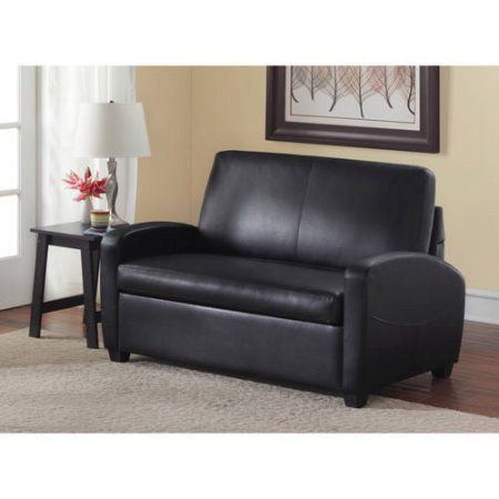 Mainstays 54 Inch Loveseat Sleeper Black Products Pinterest